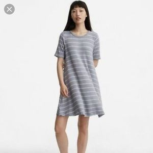 Lou & Grey signature soft grey striped dress XS